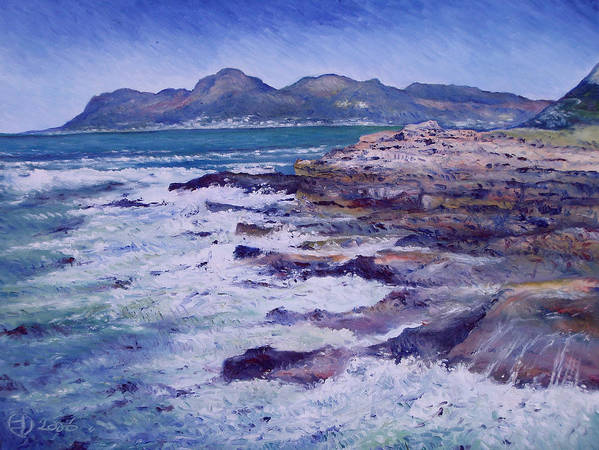 Kalk Bay South Africa Art Print featuring the painting Kalk Bay And Fish Hoek Cape Town South Africa 2006 by Enver Larney