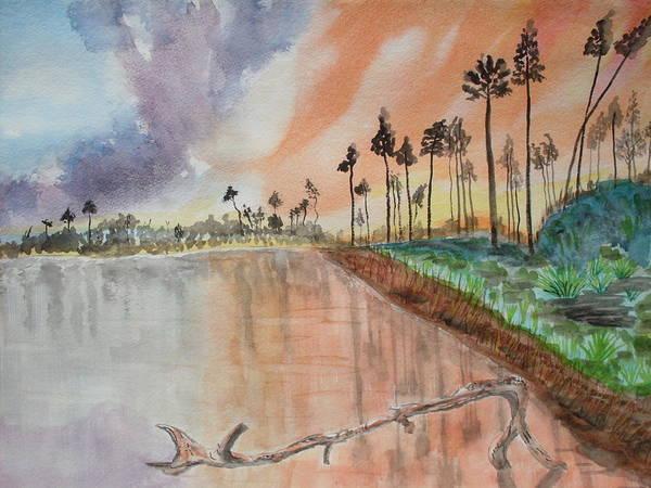 Kenya Art Print featuring the painting Kenya Sunset by Warren Thompson