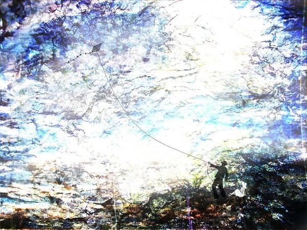 Boy Art Print featuring the digital art Kite by Mark Conrad
