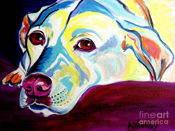 Dog Art Print featuring the painting Lab - Luna by Alicia VanNoy Call