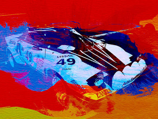 Lacia Stratos Art Print featuring the painting Lancia Stratos Watercolor 2 by Naxart Studio