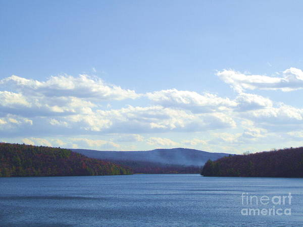 Landscape Portrait Of A View Lake Scranton Pa Art Print featuring the photograph Landscape Portrait Of A View by Daniel Henning
