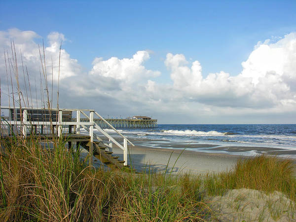 Grand Strand Beaches Art Print featuring the photograph Late Day Sun by Thomas Lovelace