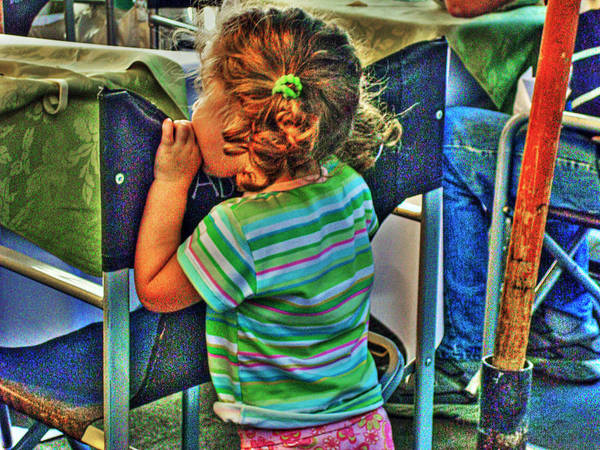 Child Art Print featuring the photograph Learning by Francisco Colon