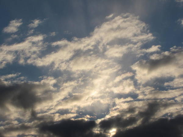 Sky Art Print featuring the photograph Lighted Sky by Melissa Parks