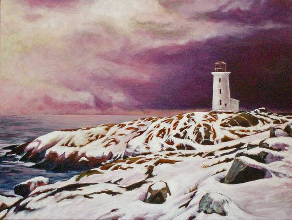 Lighthouse Art Print featuring the painting Lighthouse by Craig Johnstone