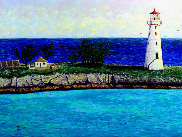 Lighthouse Art Print featuring the painting Lighthouse IIi by Stan Hamilton
