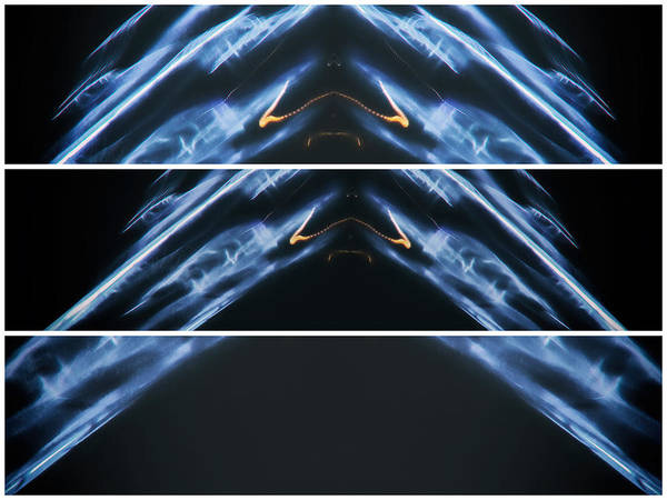 Lightpainting Art Print featuring the photograph Inverted V Of Them by John Williams