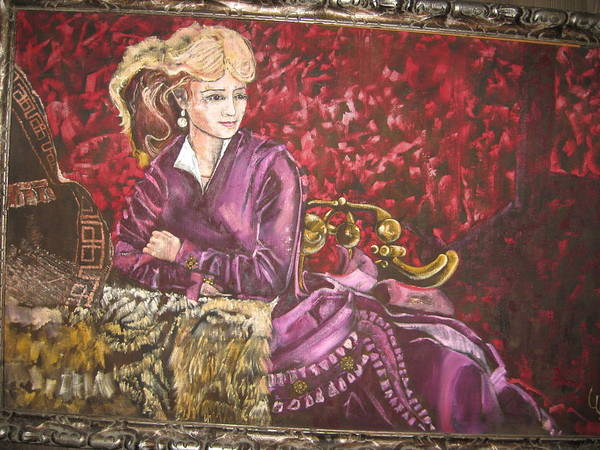 Actress Singer Dancer Old West Art Print featuring the painting Lola Montez by Lila Witt Locati