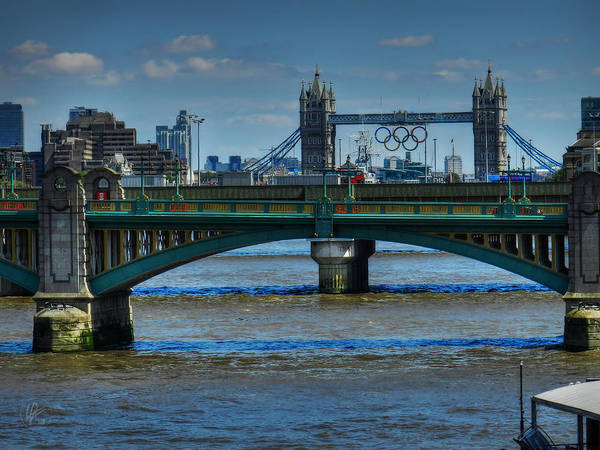 Tower Bridge London Art Print featuring the photograph London 069 by Lance Vaughn