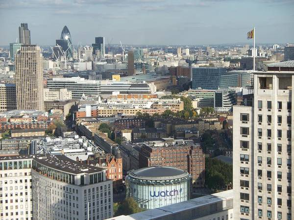 London Art Print featuring the photograph London Eye View- 2 by Jason Galles