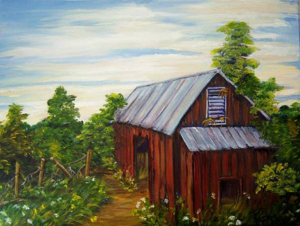 Landscape Art Print featuring the painting Long Forgotten by Patricia R Moore
