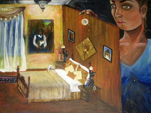 Oil Art Print featuring the painting Looking Back by Jessica De la Torre