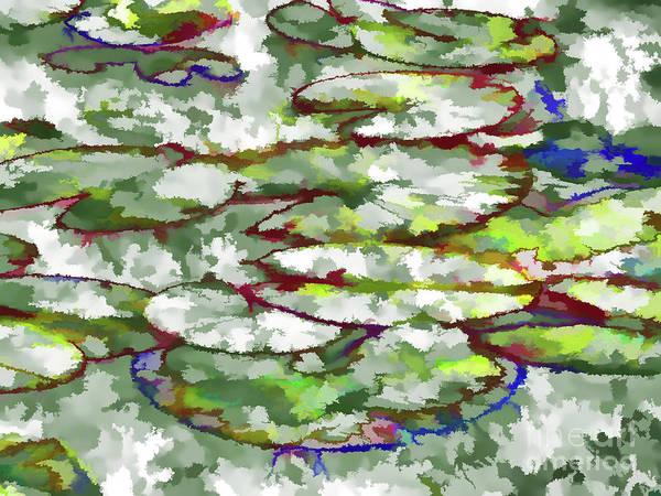 Lotus Leaves Art Print featuring the painting Lotus Leaves by Jeelan Clark