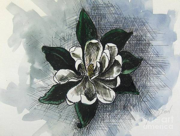 African American Art Art Print featuring the painting Louisiana Magnolia by Ethel Dixon