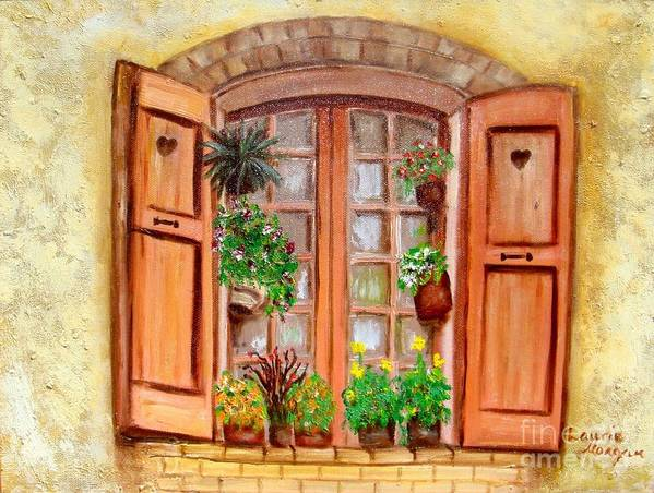 Windows Art Print featuring the painting Love Nest by Laurie Morgan
