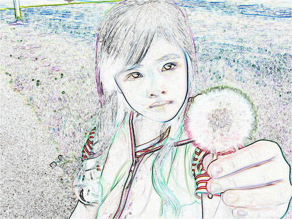 Art Print featuring the photograph Lovely Dandelion by Ming Yeung