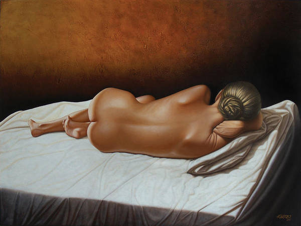 Nude Art Print featuring the painting Luz De Ambar by Horacio Cardozo