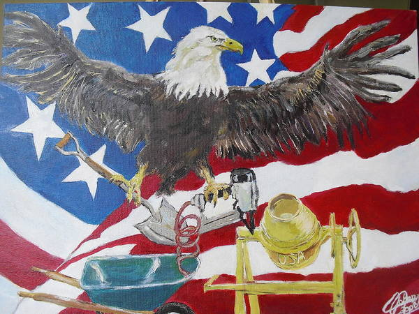 America Art Print featuring the painting Made In America by John Cappello