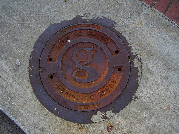 Manhole Art Print featuring the photograph Manhole IIi by Flavia Westerwelle