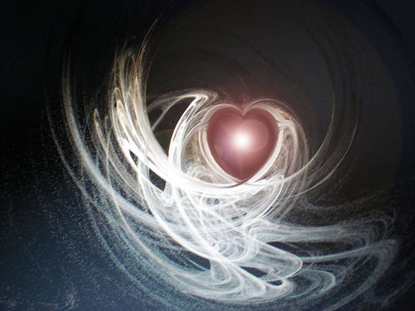 Fractal Art Print featuring the digital art Matter Of The Heart by Holly Ethan