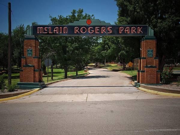 Park Art Print featuring the photograph Mclain Rogers Park by Buck Buchanan