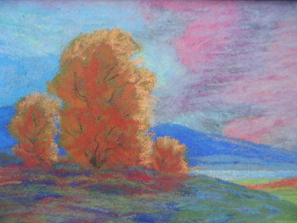 Landscape Art Print featuring the painting Meadowland by Belinda Consten