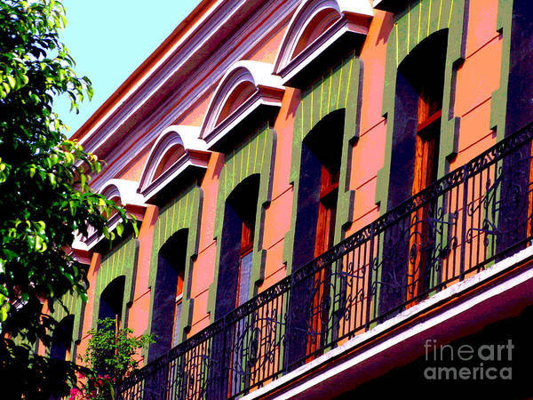 Darian Day Art Print featuring the photograph Melville Balcony By Darian Day by Mexicolors Art Photography