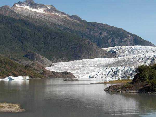Mendenhall Art Print featuring the photograph Mendenhall Glacier Alaska by Janet Hall