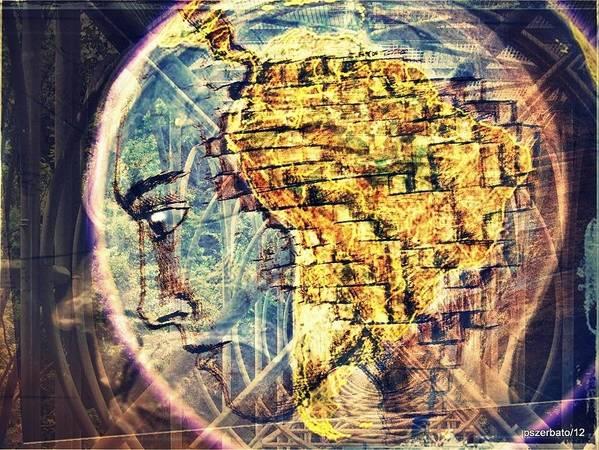 Arkh� Art Print featuring the digital art Mental Construction by Paulo Zerbato