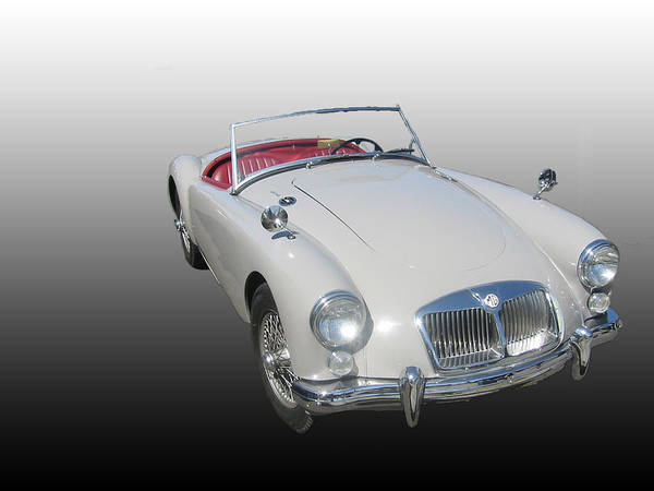 Car Art Print featuring the photograph MGA by Michael Riley