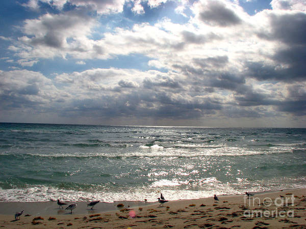 Miami Art Print featuring the photograph Miami Beach by Amanda Barcon