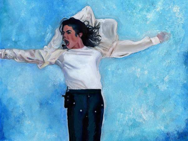 American Pop Art Print featuring the painting Michael by Vel Verrept