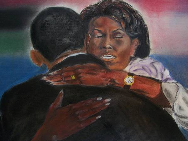 Barack Obama Art Print featuring the painting Michele by Darryl Hines