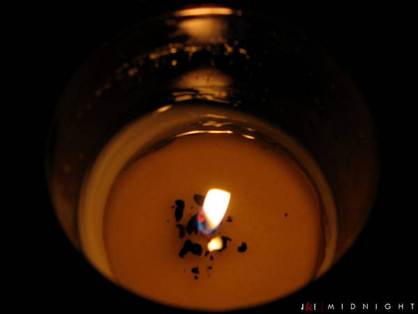 Candle Art Print featuring the photograph Midnight by Jonathan Ellis Keys