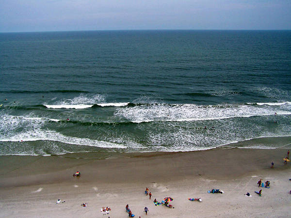 Ocean View Art Print featuring the photograph Mighty Ocean Aerial View by Patricia Taylor
