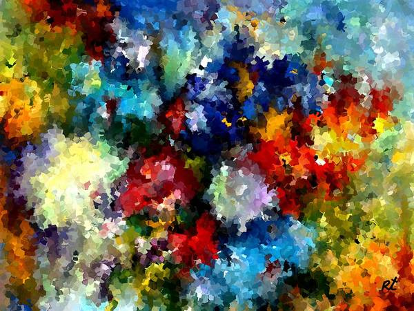 Contemporary Art Print featuring the painting Modern Composition 03 by Rafi Talby