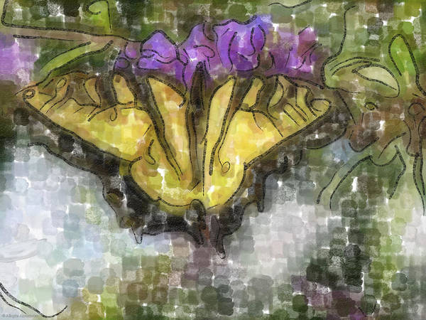 Butterfly Art Print featuring the digital art Monarch by Ches Black