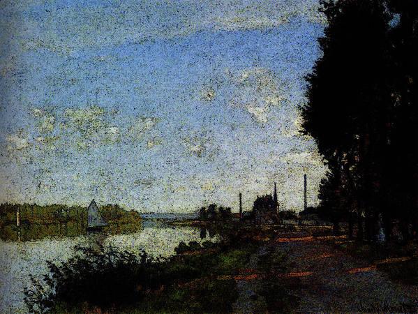 Monet Art Print featuring the digital art Monet Argenteuil by PixBreak Art