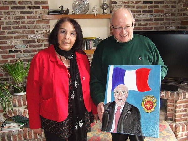 France Art Print featuring the photograph Monsieur Le Maire Et Moi by Rusty Gladdish