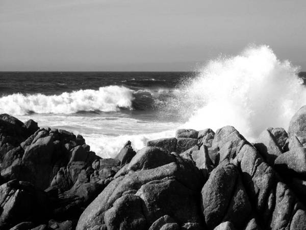 Wave Art Print featuring the photograph Monterey Waves by Halle Treanor