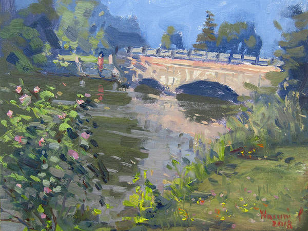 Morning Light Art Print featuring the painting Morning Light At Hyde Park by Ylli Haruni