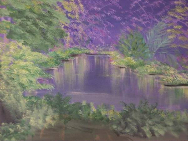 Landscape Art Print featuring the painting Mother Ono by Roxanna Finch