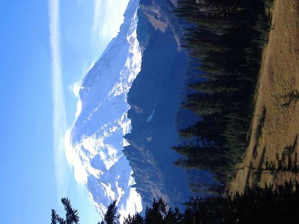 Landscape Mount Rainier Art Print featuring the photograph Mount Rainier by Alice Eckmann