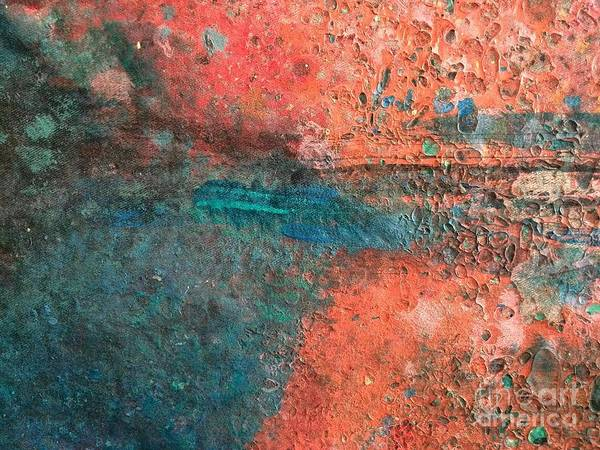 Abstract Art Art Print featuring the painting Movement Of Color II by Emir Salkic