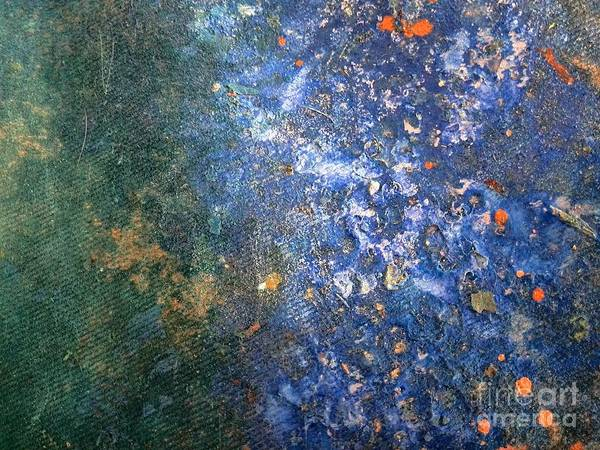 Abstract Art Art Print featuring the painting Movement Of Color Viii by Emir Salkic