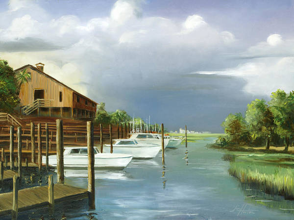 Murrells Inlet Art Print featuring the painting Murrells Inlet South Carolina by Jim Horton