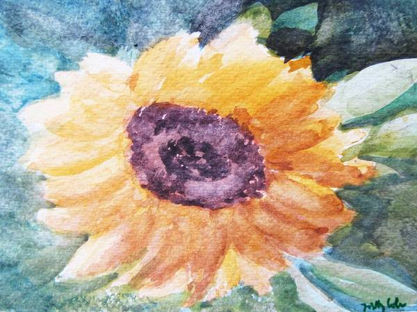 Easter Art Print featuring the painting My Heart Is A 'son' Flower by Trilby Cole