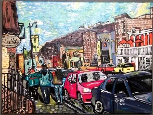 Outsiderart Art Print featuring the painting My Outsiderartist Show by Jeffrey Foti