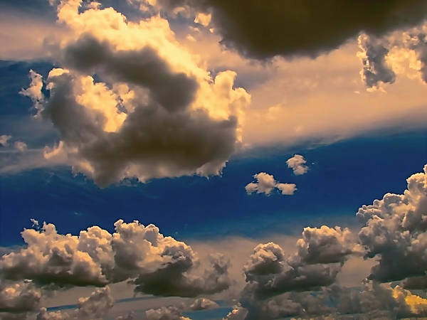 Clouds Art Print featuring the photograph My Sunset Sky by Wendy J St Christopher